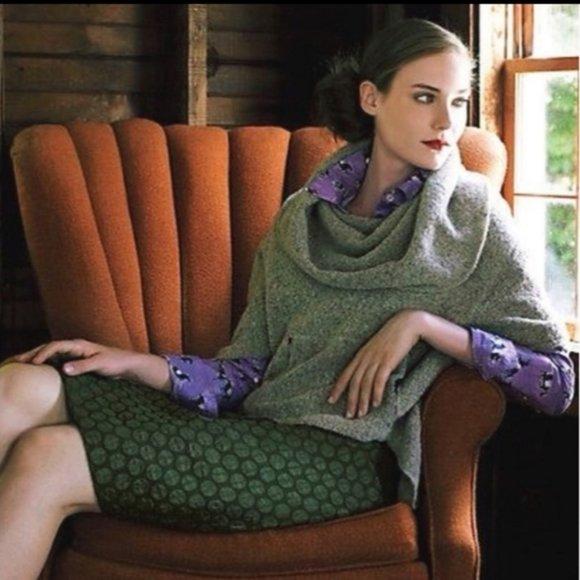 Anthropologie Dresses & Skirts - Anthropologie Maeve Green Dot Goban Pencil Skirt